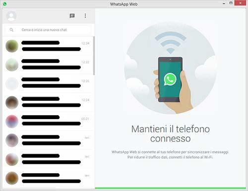 Applicazione WhatsApp Web