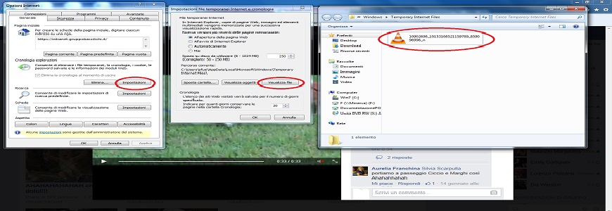 download video da facebook con Internet Explorer