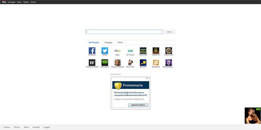 Rimuovere Istartusurf dal browser