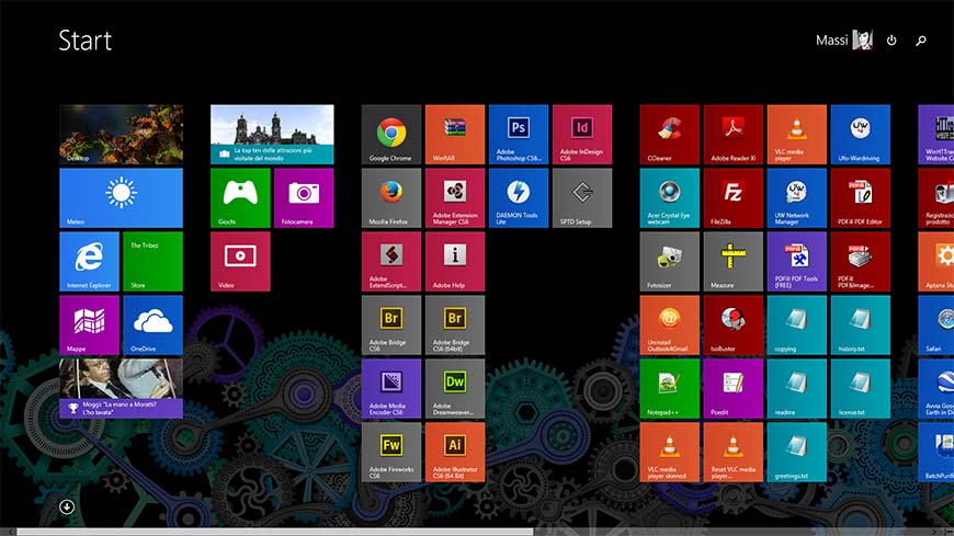 Menu start Windows 8