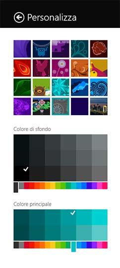 Personalizza menu start Windows 8