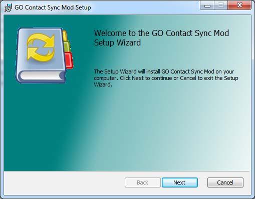 Installazione GO Contact Sync Mod