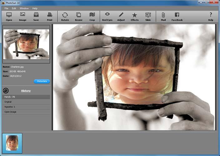 Programma per editing foto PhotoSun