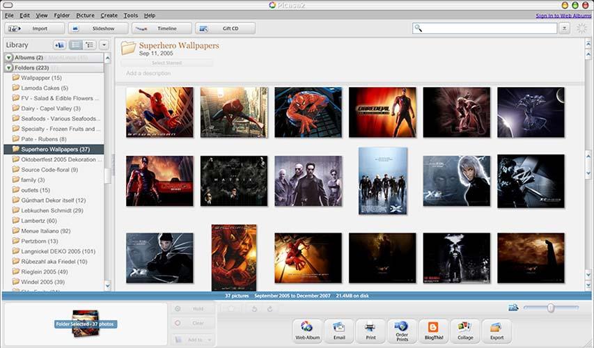 Software gestione immagini Picasa