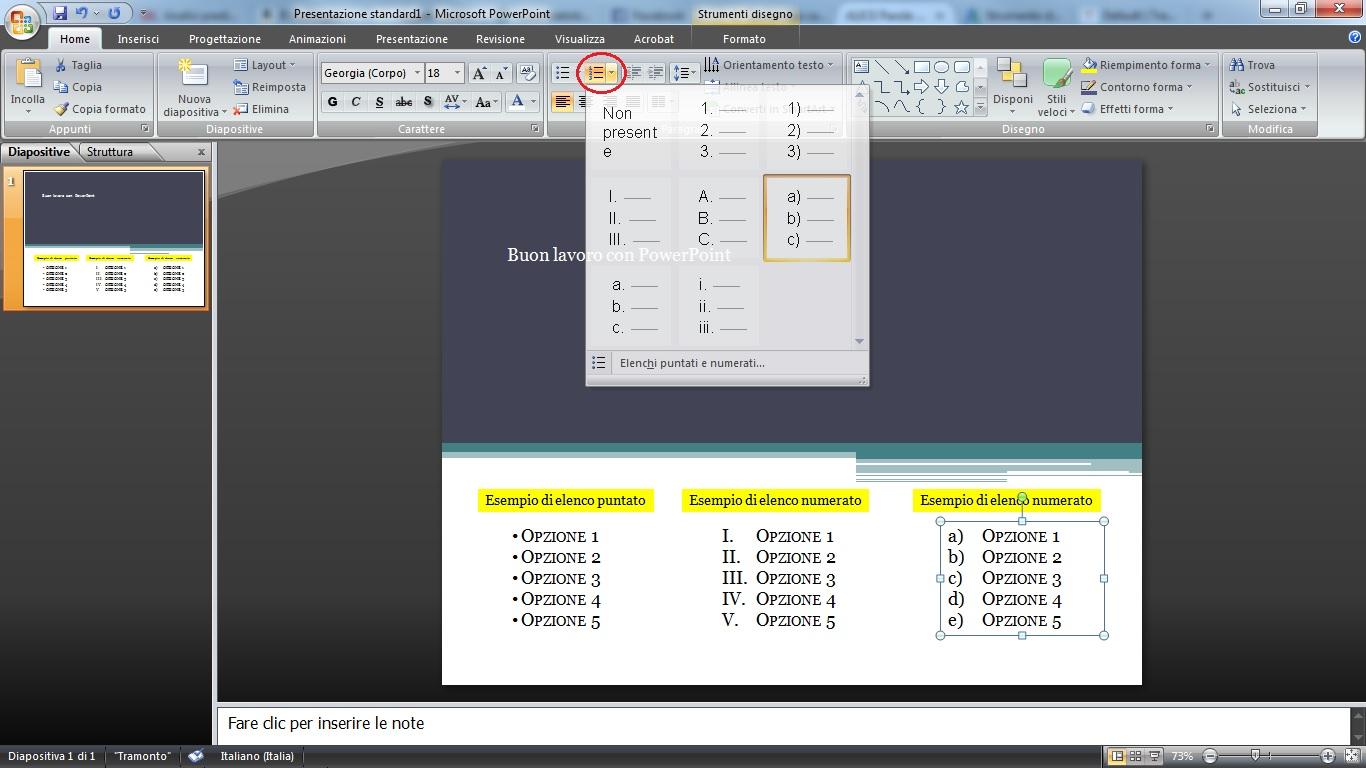 animare scritte powerpoint
