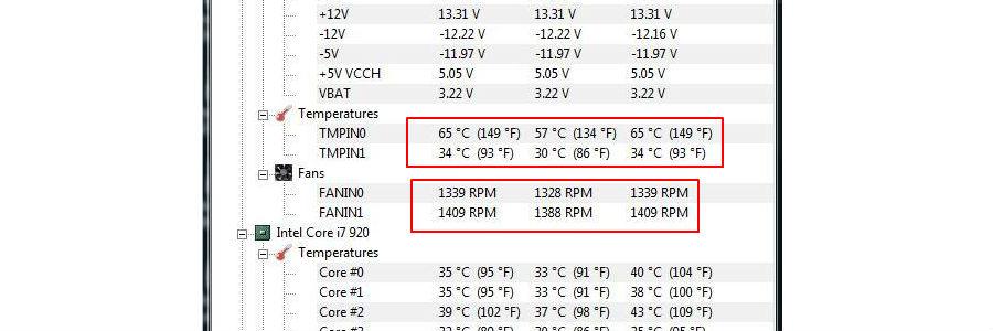 velocita ventola e temperatura